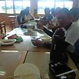 応援団の昼食
