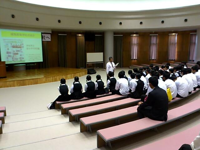 高校一日体験学習樟南高校到着